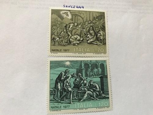 Italy Christmas 1977 mnh stamps
