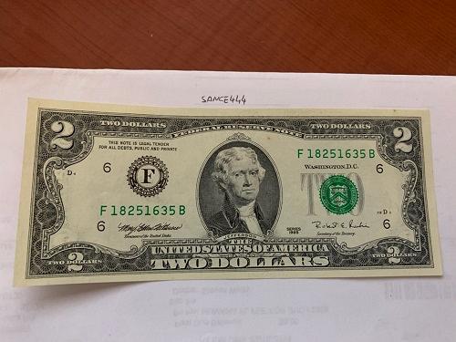 United States Jefferson $2 uncirc. banknote 1995 #8