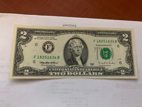 United States Jefferson $2 uncirc. banknote 1995 #10