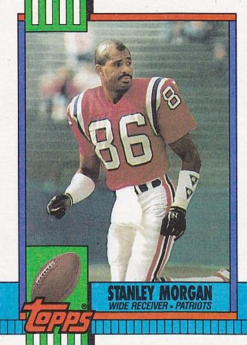 Stanley Morgan #423 - Patriots 1990 Topps Football Trading Card