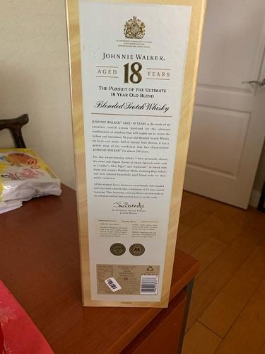 Johnnie Walker Ultimate 18 years EMPTY box