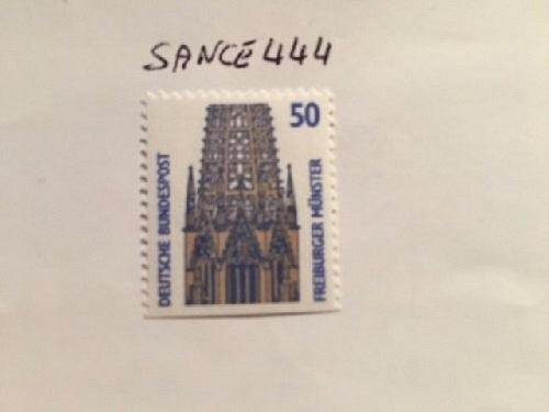Germany Sights 50p bottom imperf. mnh 1989 stamps