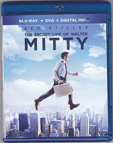 Secret Life of Walter Mitty BLU-RAY & DVD 2013 - Very Good