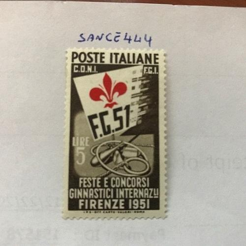 Italy Gymnastics 5L mnh 1951 stamps