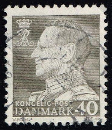 Denmark #388 King Frederik IX; Used (0.25) (4Stars) |DEN0388-08