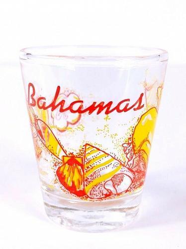 "Bahamas Seashell Sand Dollar 2.25"" Collectible Shot Glass"