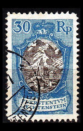 LIECHTENSTEIN [1921] MiNr 0055 II ( O/used )