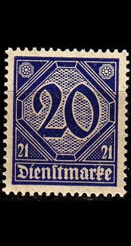 GERMANY REICH Dienst [1920] MiNr 0019 a ( **/mnh )