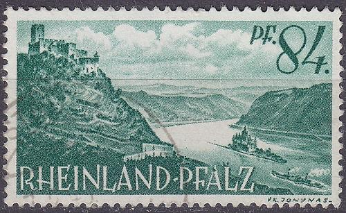 GERMANY Alliiert Franz. Zone [RheinlPfalz] MiNr 0014 y ( O/used )