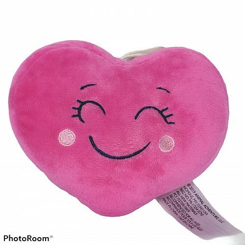 "Animal Adventure Valentine Pink Heart Love Plush Stuffed Animal 2019 6"""
