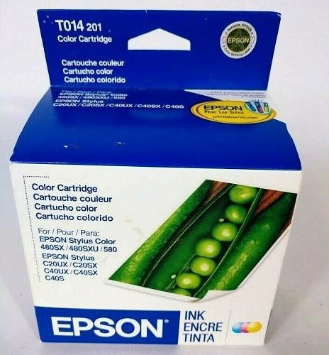 Epson T014 201 Color Ink Cartridge Brand New Sealed Expired 03/2008