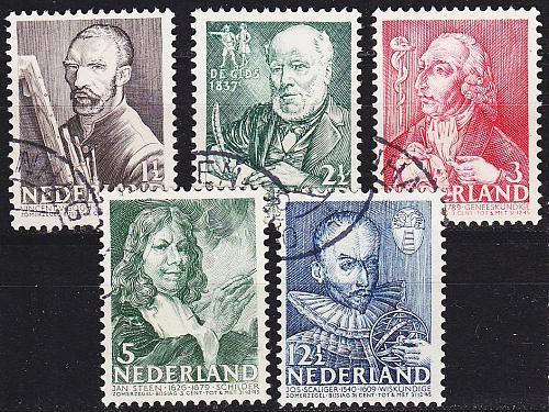 NIEDERLANDE NETHERLANDS [1940] MiNr 0351-55 ( O/used )