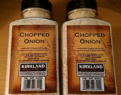 Kirkland Signature Chopped Onion Gently Dried Finest Quality 11.7 oz