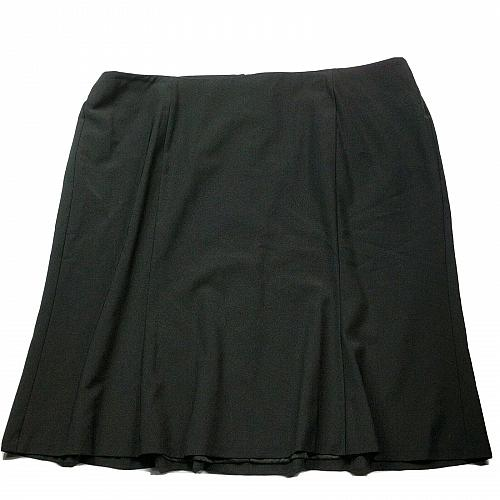NWT Talbots Womens A Line Pleated Skirt Size 22W Solid Black Lined Back Zip