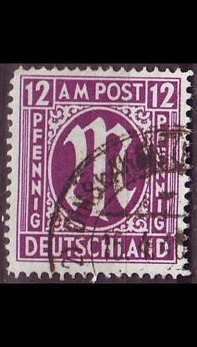 GERMANY Alliiert AmBri [1945] MiNr 0015 F ( O/used )