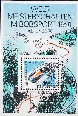 GERMANY BUND [1991] MiNr 1496 Block 23 ( Sonder-O/used ) Sport