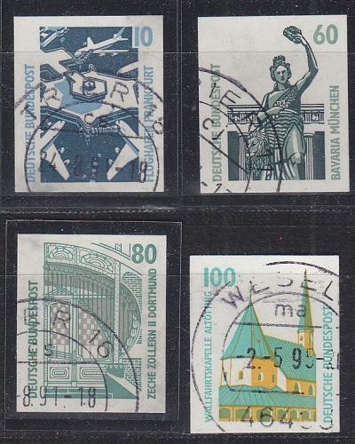 GERMANY BUND [1991] MiNr 1531-34 ( O/used ) [01] Bauwerke