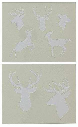 """Deer- 2 Pieces-Stencil -Mylar 14 Mil 17.5"""" H X 14"""" W - Painting/Crafts/Template"""