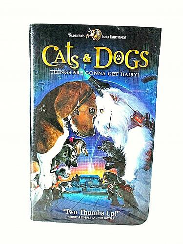 Cats & Dogs VHS Warner Bros. Family Entertainment (#vhp)