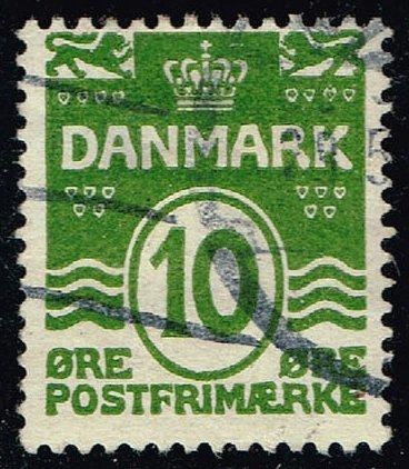 Denmark #94 Numeral; Used (0.50) (1Stars) |DEN0094-03