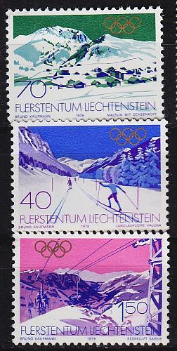 LIECHTENSTEIN [1979] MiNr 0735-37 ( **/mnh ) Sport