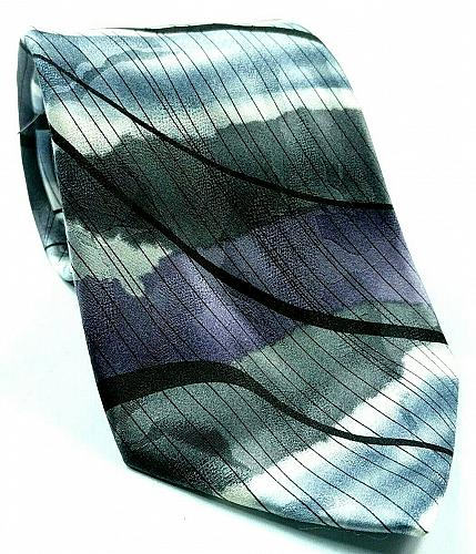J Garcia Malachite Valley Collection Fifty Two Gray Purple White Abstract