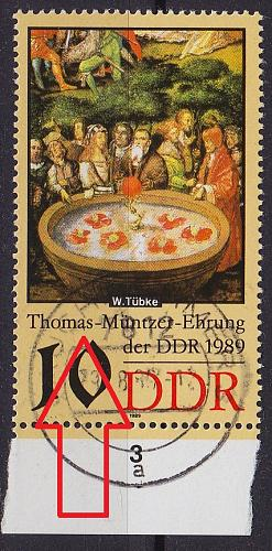 GERMANY DDR [1989] MiNr 3270 I ( OO/used ) [01] Plattenfehler