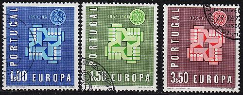 PORTUGAL [1961] MiNr 0907-09 ( O/used ) CEPT