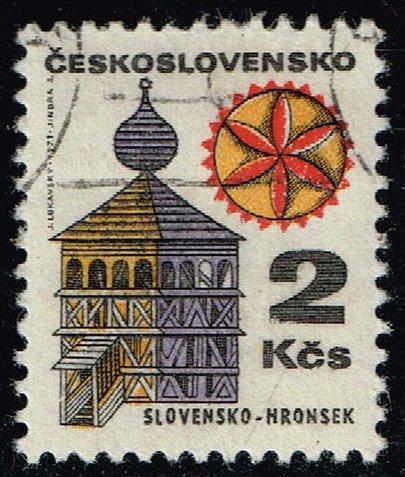 Czechoslovakia #1735 Bell Tower in Hronsek; CTO (0.25) (4Stars)  CZE1735-05