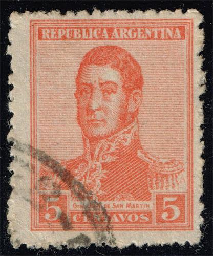 Argentina #253 Jose de San Martin; Used (0.25) (1Stars) |ARG0253-08XBC