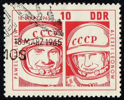 Germany DDR #762 Pavel Belyayev - Alexei Leonov; CTO (0.25) (3Stars) |DDR0762-01
