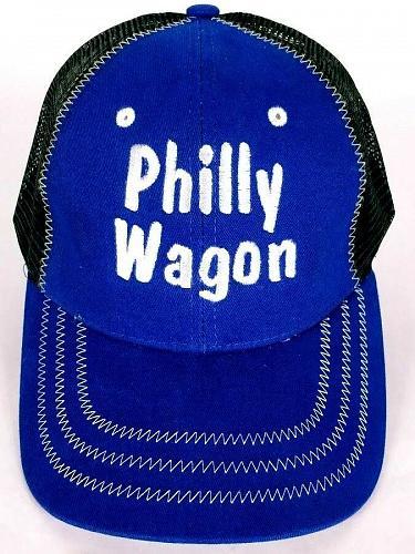 Philly Wagon Men's Trucker Cap Hat Mesh Adjustable One Size Black Blue