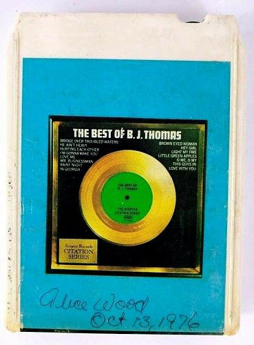 The Best Of BJ Thomas (8-Track Tape, 8T-CTN-18008)