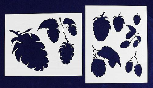 "Hops-2 Piece Stencil Set 14 Mil 8"" X 10"" Painting /Crafts/ Templates"
