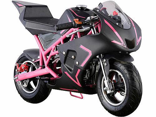 Kids Mini Ride On Motorcycle Gas Pocket Bike 4 Stroke 40CC Toy Pink Boys Girls