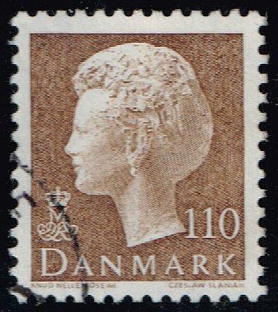 Denmark #632 Queen Margrethe; Used (4Stars)  DEN0632-01XBC