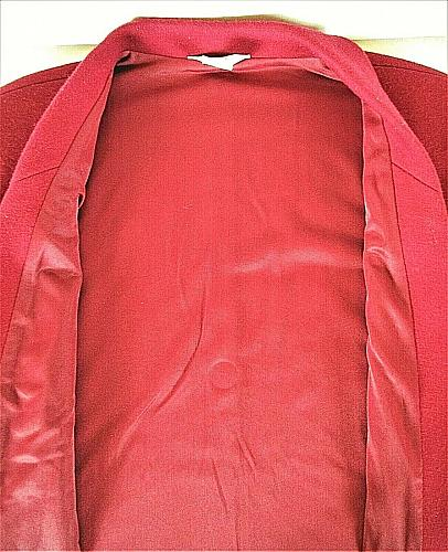 BLEYLE womens Sz 10 L/S red 100% VIRGIN WOOL fully LINED jacket (C2)P