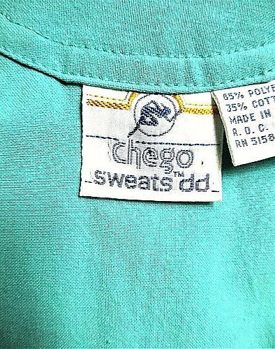 CHEGO SWEATS DD womens Medium green SNAP FRONT zip up vest (P)