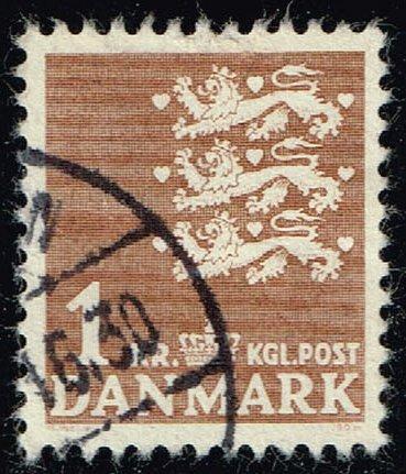 Denmark #297 Small State Seal; Used (0.25) (2Stars) |DEN0297-02