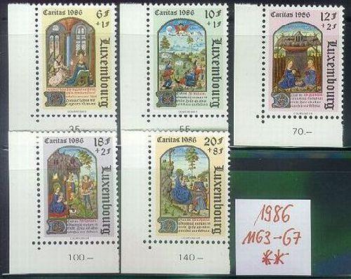 LUXEMBURG LUXEMBOURG [1986] MiNr 1163-67 ( **/mnh )