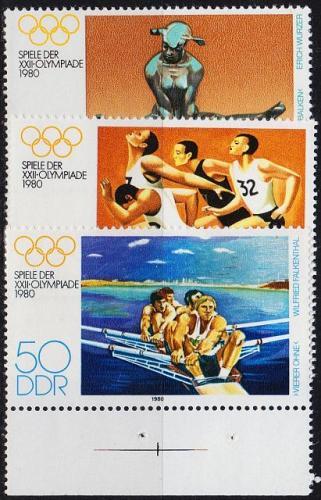 GERMANY DDR [1980] MiNr 2503-05 ( **/mnh ) Olympiade
