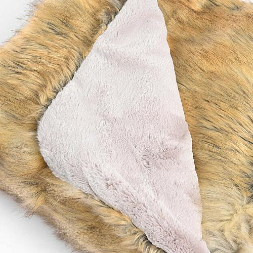 Wild Mannered Faux Fur Throw Blanket Lounge Couch Sofa Bed Accent Decor