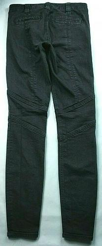J Crew Women's Utility Skinny Jeans Size 00 Black Stretch Cargo Zipper Pockets
