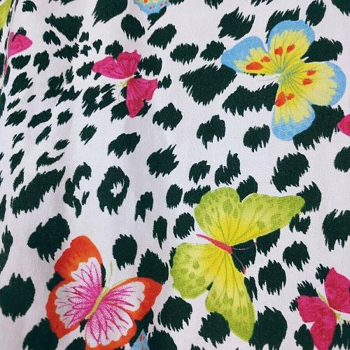 Scrubs To Go Women's Scrub Top No Size Tag Butterfly Zebra Short Sleeve