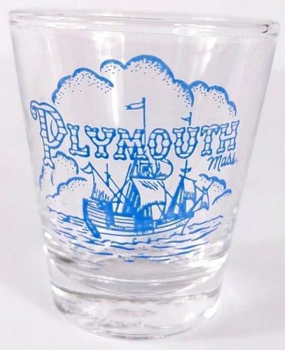"Plymouth Massachusetts Ship 2.25"" Collectible Shot Glass"