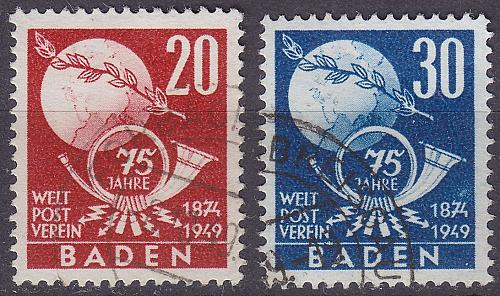 GERMANY Alliiert Franz. Zone [Baden] MiNr 0056-57 ( O/used ) [02] Post