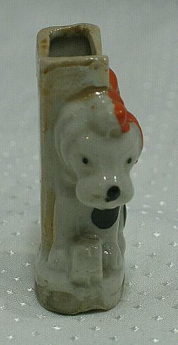 Vintage Dog Match or Cigarette Holder Figural Ashtray Japan Tobacciana
