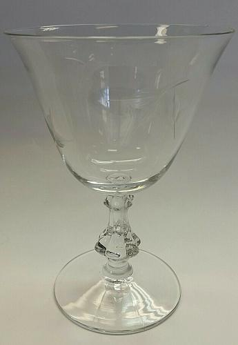 BRYCE glass Autumn goblet Crystal Made in USA