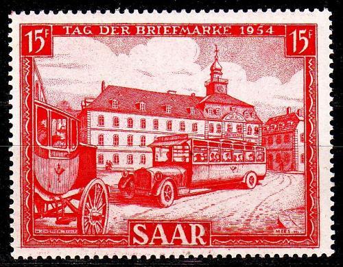 GERMANY Saar [1954] MiNr 0349 ( **/mnh ) Autos