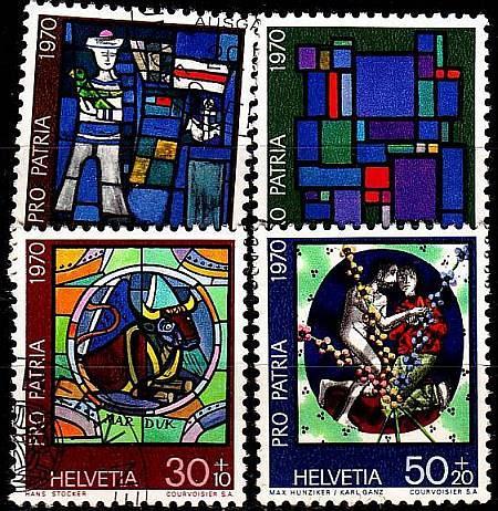 SCHWEIZ SWITZERLAND [1970] MiNr 0925-28 ( O/used ) Pro Patria